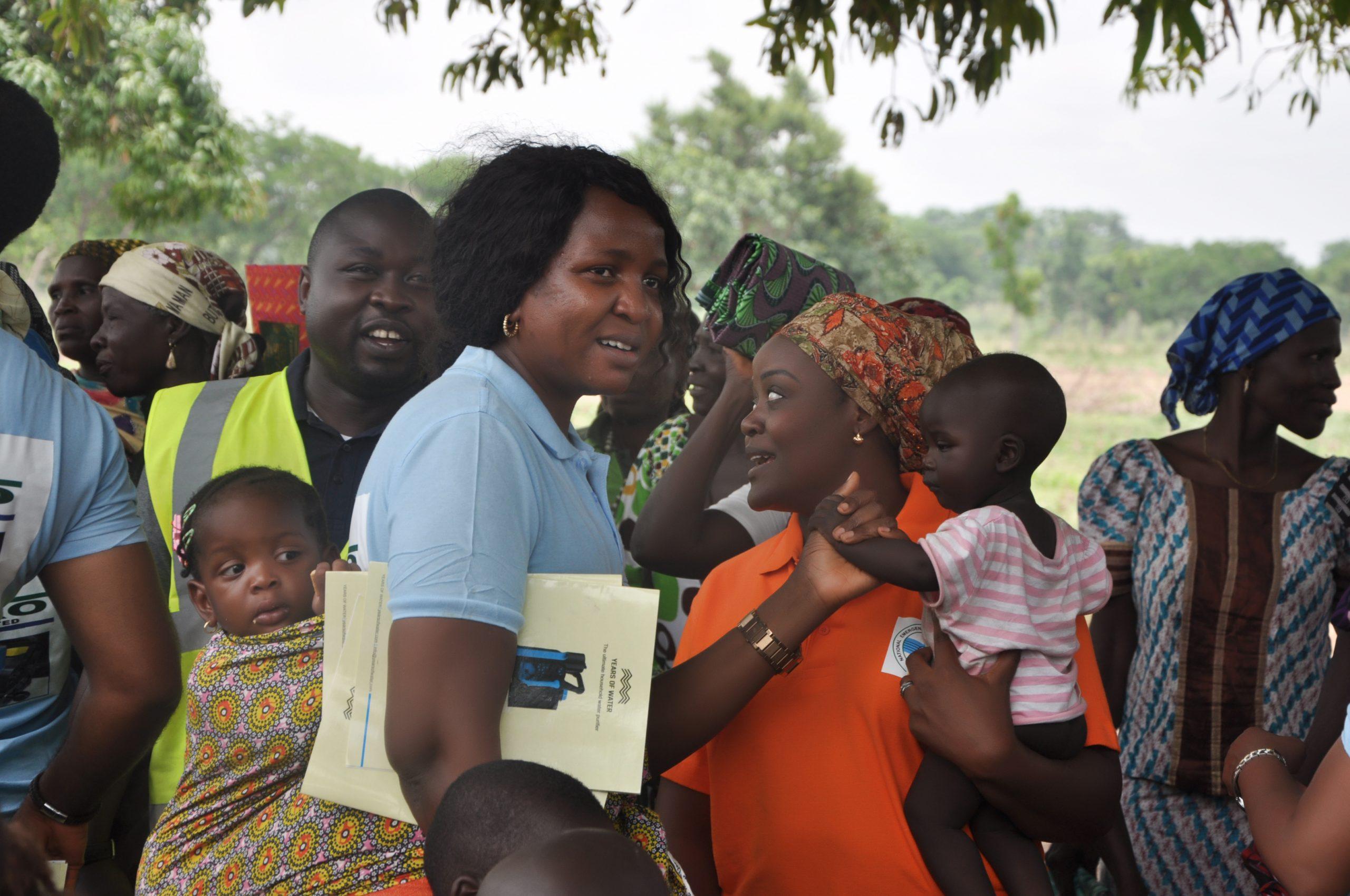 National Secretary; Oyin Okewoye interacting with the children