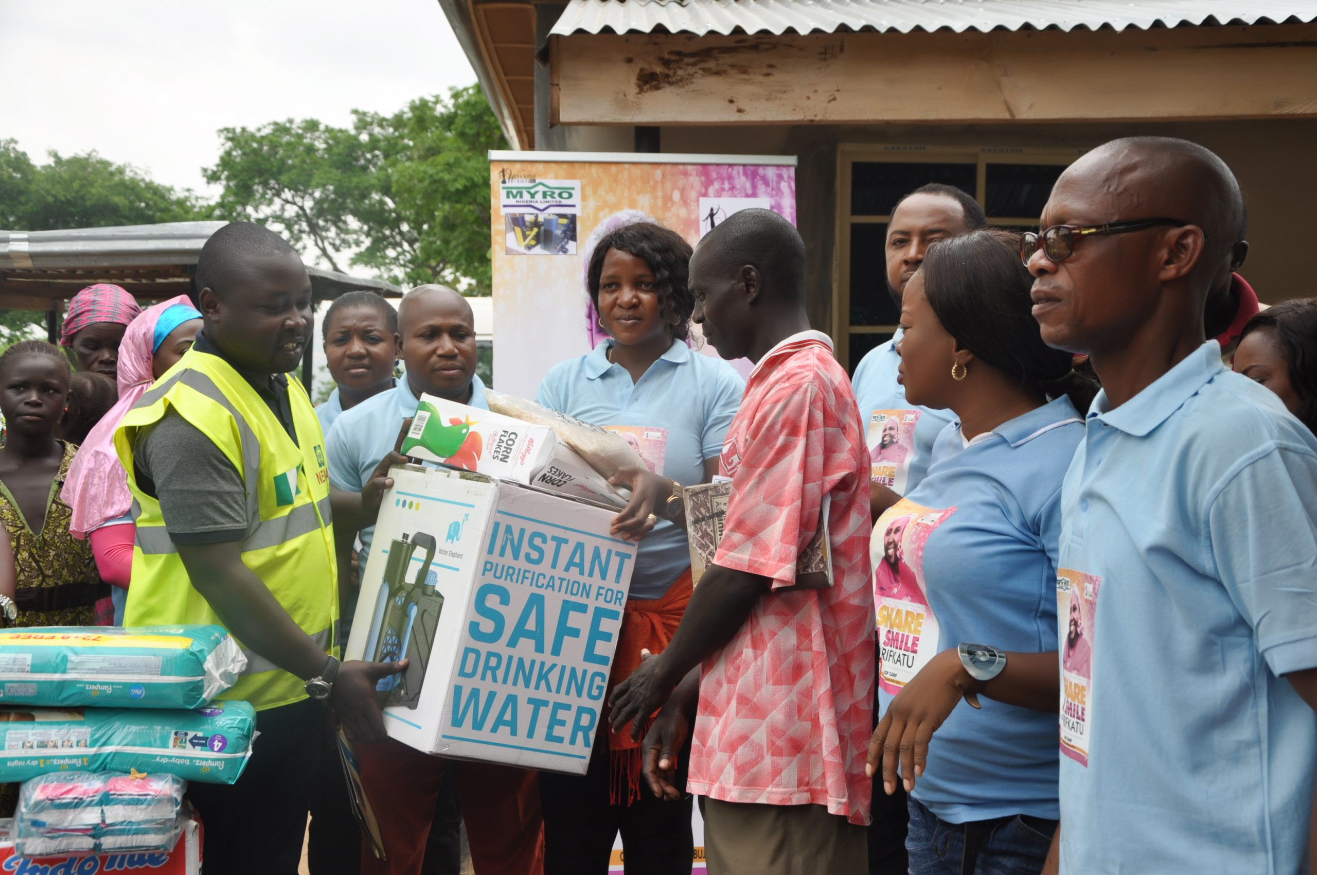 Official handing over of relief materials