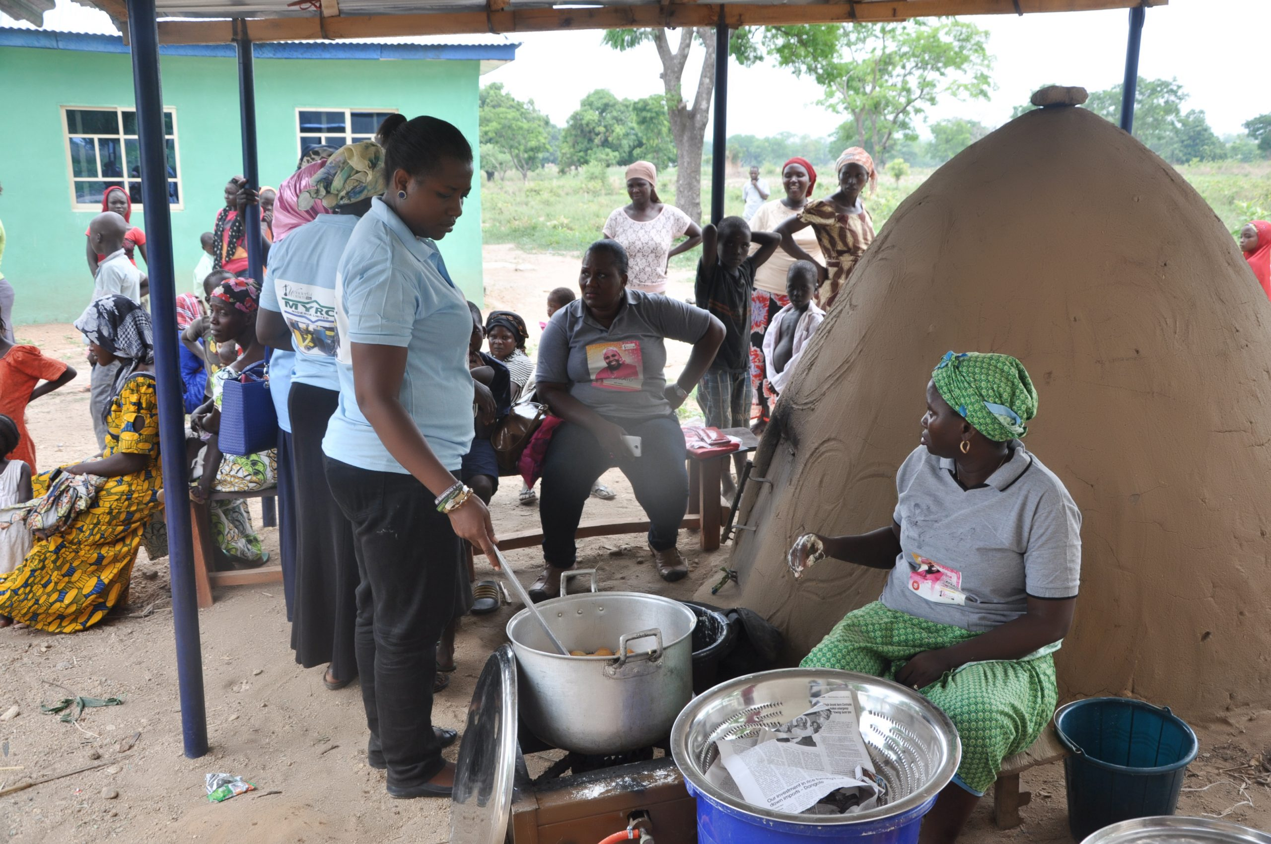 Snack being prepared by Mrs Shade Adepoju & Blessing